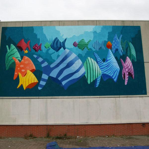 school vissen schildering